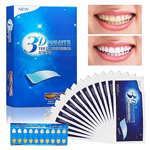 Zahnaufhellung, Vegena 3D White Stripes, 14 Paare / 28 pcs Zahnaufhellung-Streifen, Home Bleaching Kit, mit Advanced no-slip Technology, Ohne Schmerzen
