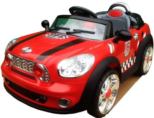 new-design-kids-ride-on-12v-twin-motors-red-mini-cooper-style-rechargeable-electric-car-parental-rem