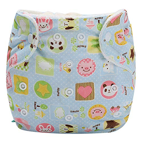 Finebo Baby Infant Kid Training Pants Potty Training Underwear Nappy Pants Reusable Adjustable Diaper Washable Nappies (Blau)
