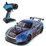 Mamum, Elektrischer Allradantrieb, wiederaufladbar, für Rennautos, 2.4 G RC, High-Speed-Racing RC-Autos, 1:10, Fernbedienung, die beste Geschenkidee für Kinder, blau, Einheitsgröße