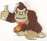 Donkey Kong Patch vollständig aufgesticktem Eisen/Nähen auf Badge DIY Aufnäher Souvenir Kostüm Gorilla Ape Affe Emblem