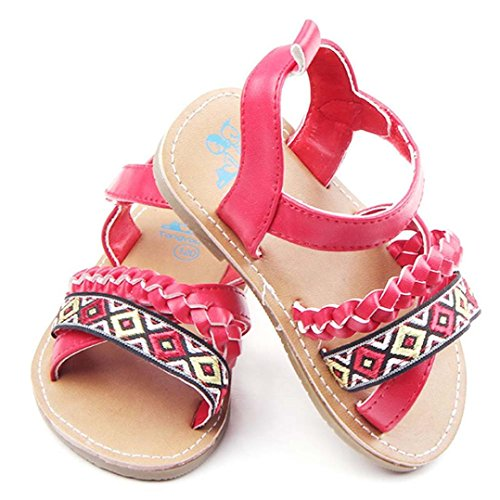 kingko® Mignon Infant Fashion Newborn Baby First Walker Toddler Anti-dérapant Chaussures Sandales Rouge