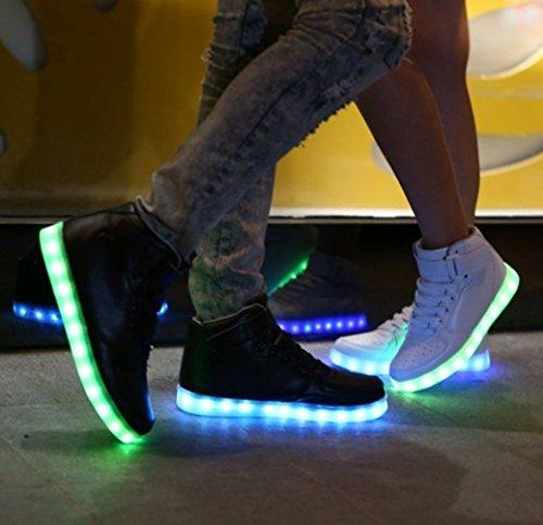 [Present:kleines Handtuch]JUNGLEST® Schwarz Schädel 7 Farbe Unisex LED-Beleuchtung Blink c11