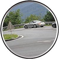 Espejo de Seguridad Espejo de la Vigilancia Panorámica Espejo Convexo Policarbonato Tráfico 60CM Negro