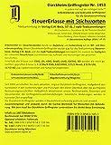 STEUERERLASSE Dürckheim-Griffregister Nr. 1453 (2018/57.EL) mit Stichworten: 144 selbstklebende und farbig bedruckte Griffregister für die ... C.H. Beck Verlag oder nwb-Textsammlungen.