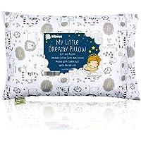 Almohada para niños con funda - Almohada para bebés de algodón orgánico suave 13x18 para dormir - Lavable e Respirable - Niños, bebés y recién nacidos (KeaSafari)