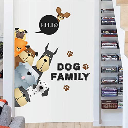 lustige familie hundetür kühlschrank wandaufkleber für kinderzimmer haustier dekoration abziehbilder wandbild kunst film poster