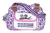Kupu Nappy Changing Bag, Stylish Laminated Water Resistance Multi-Function Shoulder Diaper Bag Portable Stroller Straps, Keys Strap & Pockets