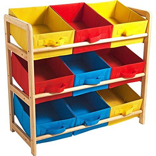 3 cesta mueble para baldas de madera de juguete