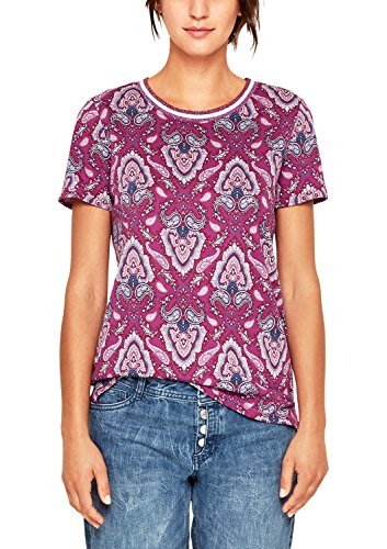 s.Oliver RED LABEL Damen Shirt mit Ornament-Printmuster Wild Berry AOP 38 (Damen Paisley-shirt)