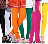 #8: Vatsla Women's Cotton Leggings Combo (Pack of 6) (VHMJ6CMBFree Size_Multi Color)