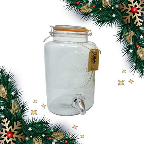 (5 Liter Getränkespender von Smith's Mason Jars mit Stahlkegeln, Blockdrahtgeflecht und Geschenkanhänger. Es ist der ultimative Getränkekühler)