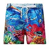 Funnycokid Bambini Nuotare Abbigliamento Estate Stampare Asciugatura Veloce Seafish Box da Surf Boxer Pantaloncini Bambino Spiaggia Shorts