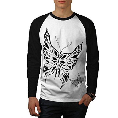 papillon-tatouage-artistique-papillon-de-homme-nouveau-blanc-avec-manches-noires-l-base-ball-manche-