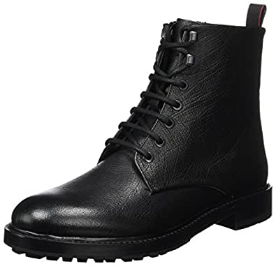 Hugo Defend_halb_GR 10201466 01, Bottes Rangers Homme, Noir (Black) 42.5 EU
