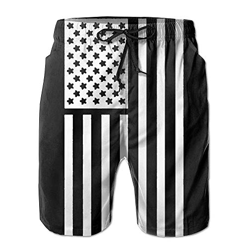 831c96bdec best& Mens American Thin Blue Line Flag Summer Breathable Swim Trunks Beach  Shorts Board Shorts M