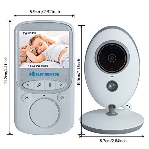URNINAUEU young child Monitor 24 Video young child Monitor by using Night vision Two process talk Temperature Monitoring constructed in Lullabies Upgraded young child Products