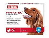 Beaphar fiprotec Dog (1Pipette)–Pesticide Solution Spot On With Active Substance Fipronil, Against Fleas And Ticks, cani medi (10-20 kg)