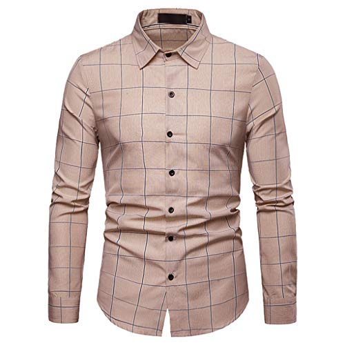 Freizeithemd Herren Slim Fit Sannysis Vintage Holzfällerhemd Karo-Hemd -
