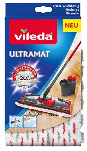 Vileda UltraMat 2in1-Microfaser-Bezug, für streifenfreie und glänzende Böden -