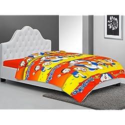 Frabjous Doraemon Prints Polycotton Single Bed Reversible AC Dohar/Quilt/Blanket For Kids (Red) Diwali Gift for Home