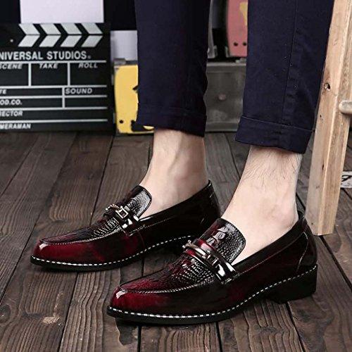 ZXCV Scarpe all'aperto Le calzature appuntite degli uomini petteggiano le scarpe a pedale Rosso