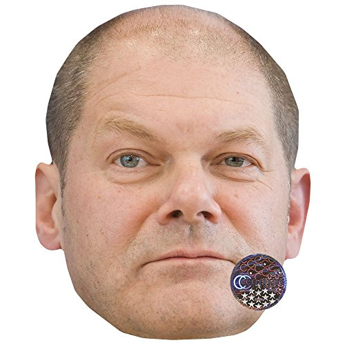 Celebrity Cutouts Olaf Scholz Maske aus Karton
