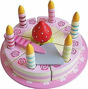MAGNI-Tarta de cumpleaños de Madera con Velcro y Velas, 1791p