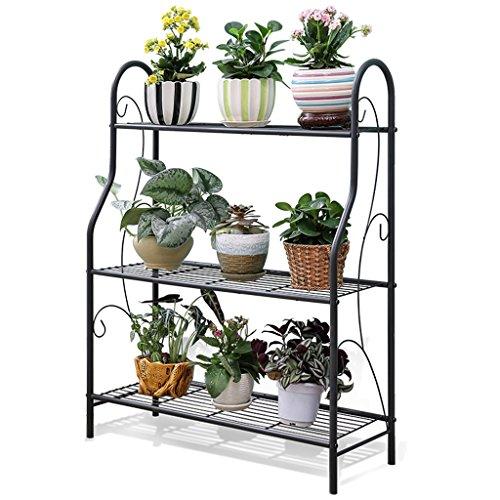 Metall Blumenständer Blumenregal Pflanzenständer für Blumentopf schwarz//weiß DE