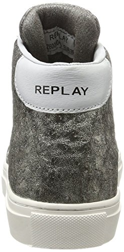 Replay Damen Hall Hohe Sneaker Grau (Platin)