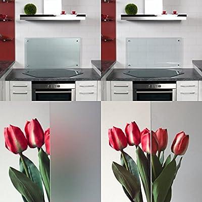 Küchenrückwand / Spritzschutz aus Klarglas oder Mattglas in diversen Größen