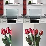 Küchenrückwand/Spritzschutz Satinato Mattglas (HxBxT) 400x1100x6mm