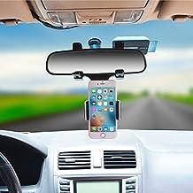 Universal Smartphone soportes soporte para espejo retrovisor de coche camión Auto soporte cuna para iPhone 7, 7Plus, 6s plus, 6, 5S, Samsung Galaxy S6/S5/S4/S3, Nota 4/3/2, GPS/PDA/MP3/MP4 …