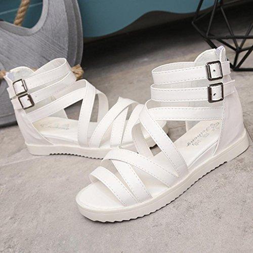 OVERMAL Les Sandales De Chaussures Chaussures Basses D'Escarpins Roman Sandales Mesdames Tongs Blanc