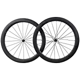 IMUST 700C Aero 55mm Carbon Rueda Clincher Tubeless Ready 25mm Breit con Novatec Buje 1594g