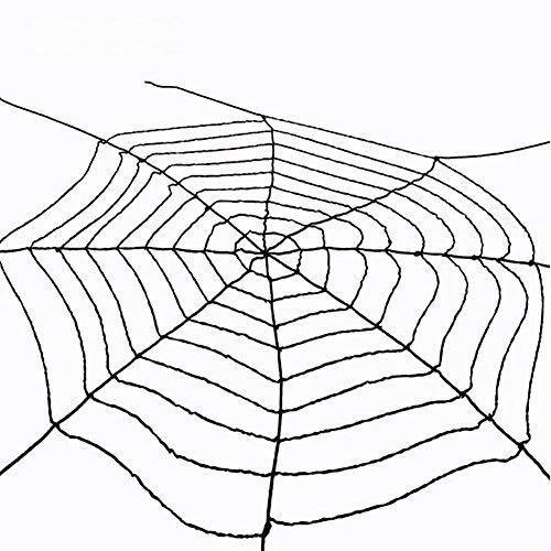 ZHUOXBU Halloween Day Dekoration Einfache Art Terrifying Black Spider Web Cobweb Square, Rechteckige Und Runde Tischdecken (Einfache Halloween Dekoration)