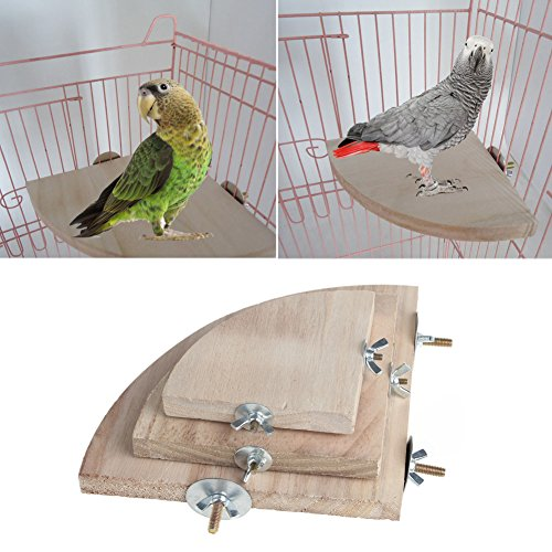 dairyshop Pet Parrot Holz Plattform Ständer Rack Spielzeug Hamster Ast Sitzstangen für Vogelkäfig New