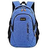 Super Modern Unisex-Schulrucksack aus Nylon, Laptoptasche für Teenager, ob Mädchen oder Jungen, cooler Sportrucksack, Reiserucksack für Männer und Frauen Größe L blau