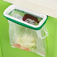 Home Cube Plastic Garbage Bag Holder/Dustbin (Green) for Kitchen/Office/Clinics/Schools (with Side Clips for Better Grip)