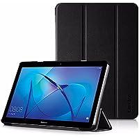EasyAcc Cover Custodia per Huawei MediaPad T3 10, Ultra Sottile Smart Cover Case in Pelle per Il Huawei MediaPad T3 10 Tablet - Nero