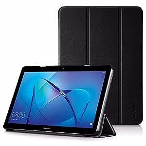 Huawei MediaPad T3 10 Custodia Cover , EasyAcc Ultra Sottile Smart Cover Case in Pelle per il Huawei MediaPad T3 10 Tablet - Nero