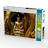 CALVENDO 4059478955080 Buddhas Glanz Foto-Puzzle Bild von by Sylvia Seibl CrystalLights, 2000 Teile, Weiß, Lege-Größe 90 x 67 cm