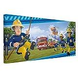 Bilderwelten Leinwandbild - Feuerwehrmann Sam - Immer in Aktion - Querformat 1:2, 40cm x 80cm