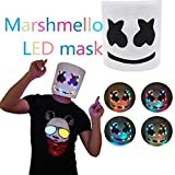 Juman634 DIY PVC Kopfbedeckungen LED DJ Maske Voller Kopf Helm Cosplay Party Bar Musik Prop für Karneval & Halloween
