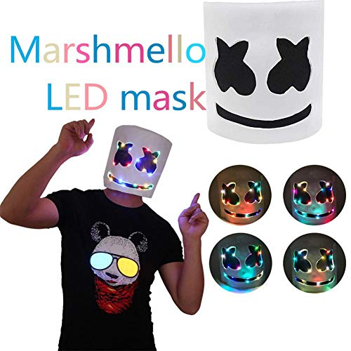 f Helm led Cosplay Marshmellow atmungsaktiv für Party bar Musik Prop Halloween Weihnachten ()