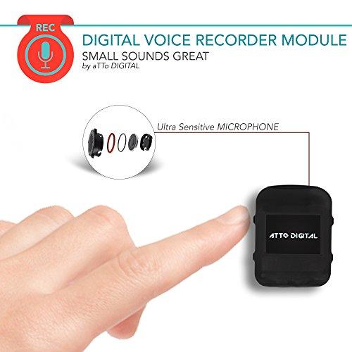 Mini Modul Spionage Rekorder Stimmenaktivierter 8GB - 570 Stunden ✓ Nur 8mm dünn | HD Stimme 1536kbps | 24 Stunden Batterie | Wählbare Aufnahmequalität Versteckte Stimme Aufnehmen