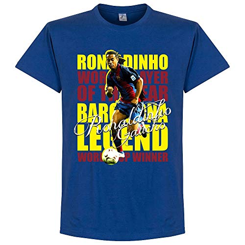 Retake Ronaldinho Leyenda Camiseta-Royal Azul Azul Real 4XL
