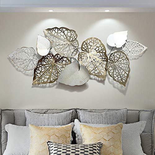 GBFYLD Kreative handgemachte Blätter Wanddekoration Aus Metall, Moderner Wandkunst, Wanddekoration - Für Arbeitszimmer/Wohnzimmer/Schlafzimmer/Hotel