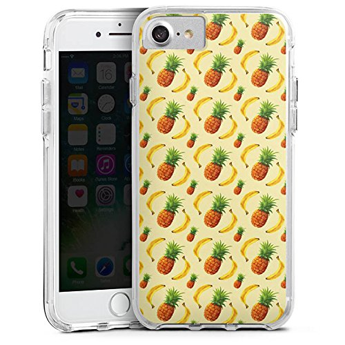 Apple iPhone 8 Bumper Hülle Bumper Case Glitzer Hülle Pineapple Ananas Banane Bumper Case transparent