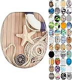 WC Sitz mit Absenkautomatik, viele schöne WC Sitze zur Auswahl, hochwertige und stabile Qualität aus Holz (Maritim)